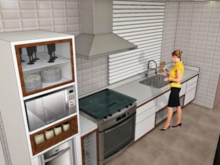Apartamento Brooklin Paulista Cozinhas rústicas por Studio Meraki Arquitetura e Design Rústico