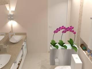 Banho Casal Banheiros modernos por Studio Meraki Arquitetura e Design Moderno