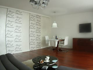 Mieszkanie 65 m2 na Tarchominie: styl , w kategorii Salon zaprojektowany przez Kossakowska design,