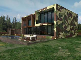 Camouflage house Дома в стиле минимализм от ALEXANDER ZHIDKOV ARCHITECT Минимализм