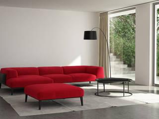 Salon rouge cerise par Emilie Adams