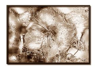 """Tableau sur toile marron sépia """"Apparition"""" de la collection Fleurs stylisées:  de style  par Emilie Adams"""