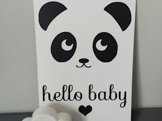 Affiche panda hello baby par Mon petit Léon Scandinave