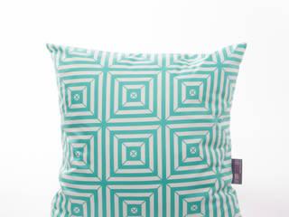 Coussin GEOMETRIK Vert & Blanc:  de style  par URBAN COLOR