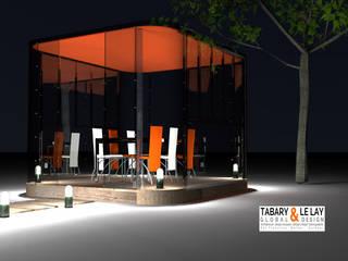 le Plan à 6 Frédéric TABARY Balcon, Veranda & Terrasse modernes Plastique Transparent