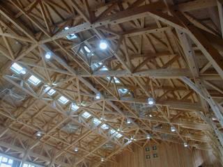 高羽六甲アイランド小学校体育館 クラシカルな 家 の 木造トラス研究所・株式会社 合掌 クラシック