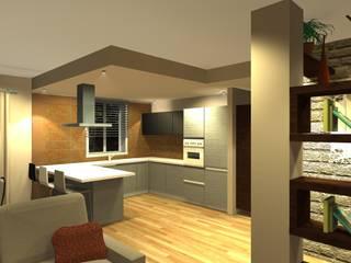 Vista della composizione cucina : Cucina in stile  di Bludiprussia design