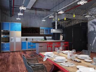 Cocinas de estilo industrial de GM-interior Industrial
