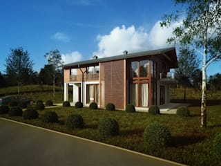 Modern houses by Majchrzak Pracownia Projektowa Modern