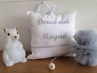 """Boîte à musique """"douce nuit"""" personnalisée Fesse de Rat Chambre d'enfantsAccessoires & décorations Coton Métallisé / Argent"""