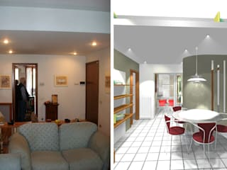 Trasformazione soggiorno:  in stile  di Bludiprussia design