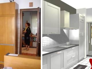 Cucina - modifiche murarie e arredi:  in stile  di Bludiprussia design