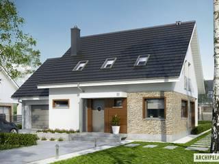 PROJEKT DOMU PEDRO G1 ENERGO : styl , w kategorii Domy zaprojektowany przez Pracownia Projektowa ARCHIPELAG,Nowoczesny