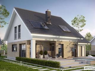 PROJEKT DOMU PEDRO G1 ENERGO Nowoczesne domy od Pracownia Projektowa ARCHIPELAG Nowoczesny