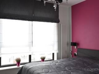 Gabinet oraz sypialnia w wersji dla niej: styl , w kategorii Sypialnia zaprojektowany przez Milan design