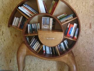 Bibliothèque Spirale par Pierre SUBRIN ébéniste Éclectique