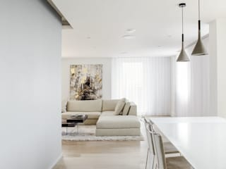 PENTHOUSE APARTMENT, CANARY WHARF Minimalist dining room by Francesco Pierazzi Architects Minimalist