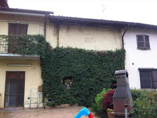 Casa S: Garage/Rimessa in stile in stile Moderno di Studio Alessandro Merigo Geometra