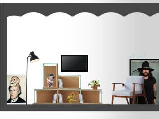 Salas / recibidores de estilo  por SUIN design studio, Moderno