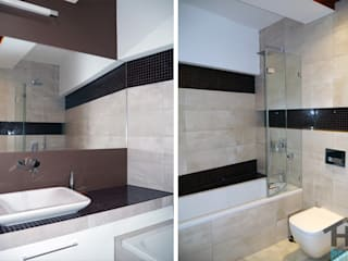 Hi home Modern bathroom Tiles Brown