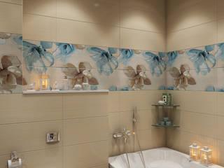 студия визуализации и дизайна интерьера '3dm2' 浴室 Beige