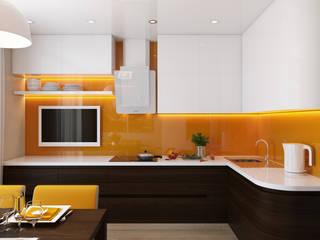 Проект 015: кухня: Кухни в . Автор – студия визуализации и дизайна интерьера '3dm2', Минимализм
