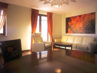 Apartament w Sopocie: styl , w kategorii Salon zaprojektowany przez Grafick sp. z o. o.
