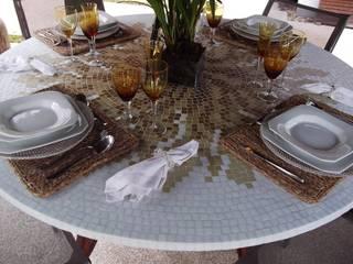 Tampo de mosaico com ardósia:   por Myo Atelier,Moderno