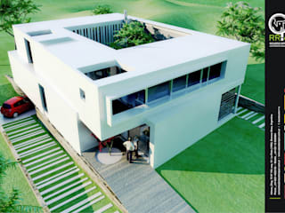 Casa Kn68: Casas unifamiliares de estilo  por Rr+a  bureau de arquitectos
