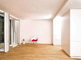 Fürst & Niedermaier, Architekten Salones de estilo moderno Madera Blanco