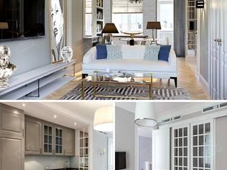 Дизайн квартиры на Остоженке. Фото интерьеров и новинки 2015 года Кухня в классическом стиле от Дизайн студия Ольги Кондратовой Классический