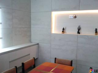 Beton architektoniczny w kuchni i jadalni Nowoczesna jadalnia od Luxum Nowoczesny