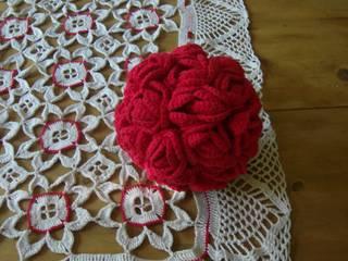 gehäkelte Rosenkugel von homas selbstgemachtes allerlei Rustikal