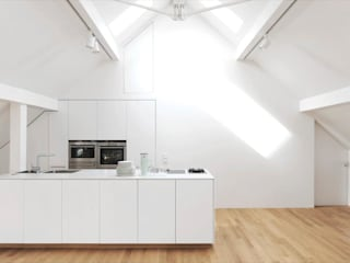 Fürst & Niedermaier, Architekten Modern kitchen Wood White