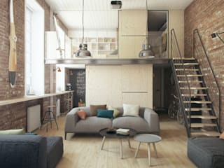 Industrial style living room by The Goort Industrial