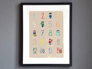 Poster für Kinderräume von Familie kleiner Tiere Skandinavisch