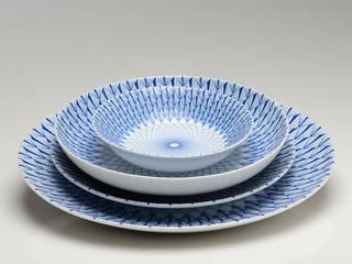 """Geschirr """"L'heure bleue"""", 4-tlg. Set, Geneviève Lethu, Frankreich:   von La Maison de Florence"""
