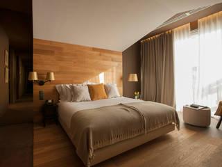 Temática do quarto alusiva à camomila Hotéis campestres por Tralhão Design Center Campestre