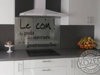 Idée déco tendance avec les crédences en verre imprimées de chez Kozeodeco.com par Kozeo Deco