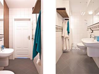 IDAFO projektowanie wnętrz i wykończenie Rustic style bathroom