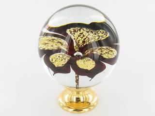 Boule d'escalier Collection Orchidée Métaux Précieux par Les Verreries de Bréhat Classique