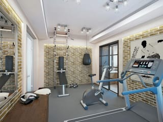 Fitness clássico por Design studio of Stanislav Orekhov. ARCHITECTURE / INTERIOR DESIGN / VISUALIZATION. Clássico