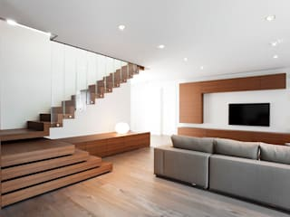 Z House Minimalist living room by EXiT architetti associati Minimalist Wood Wood effect