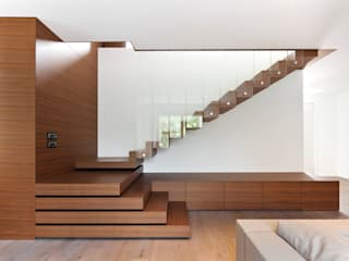 Z House EXiT architetti associati Minimalist living room Wood