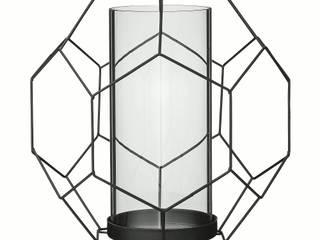 Bloomingville Design Kerzenhalter Schwarz Metall Glas 23x20,5xH22,5 cm von Die Tante Emma Skandinavisch