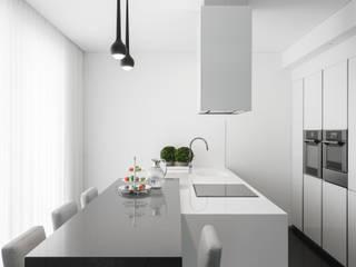 Casa em Braga: Cozinhas  por CASA MARQUES INTERIORES,Moderno