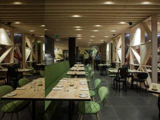 Tabik Restaurant by Ipotz Studio Espaços gastronômicos modernos por Ipotz Studio Moderno