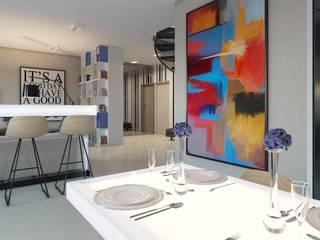 Cocinas de estilo industrial de Архитектурное бюро DR House Industrial