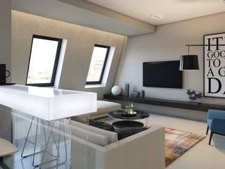 Salas de estilo industrial de Архитектурное бюро DR House Industrial