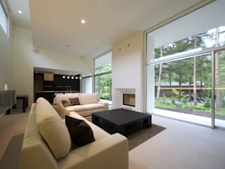 Salas modernas de 株式会社廣田悟建築設計事務所 Moderno